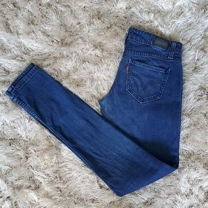 Levi's 524 Too Super Low Blue Skinny Jeans Size 3